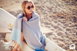 COOL-FOUTA HAMMAM CLASSIC FOUTA Hammam Towel Limpet Shell Stripes on Lilac Gray solid color Honeycomb Fouta by Cool-Fouta at http://www.foutadeibiza.es | Photo by http://www.adriencrasnault.com/