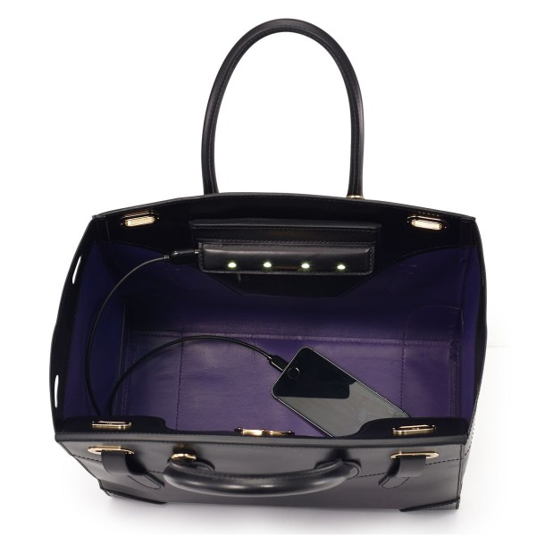 8f4f1ef9a19f Ralph Lauren brings their classic Ricky Bag into the future with the  addition of four discreet LED lights (which activate when it s opened) and  an ...