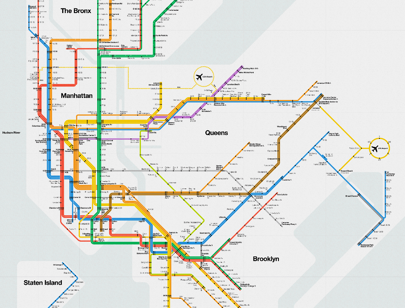 Massimo Vignelli 1972 Nyc Subway Map.Massimo Vignelli S Signed 2012 Nyc Subway Diagram Cool Hunting