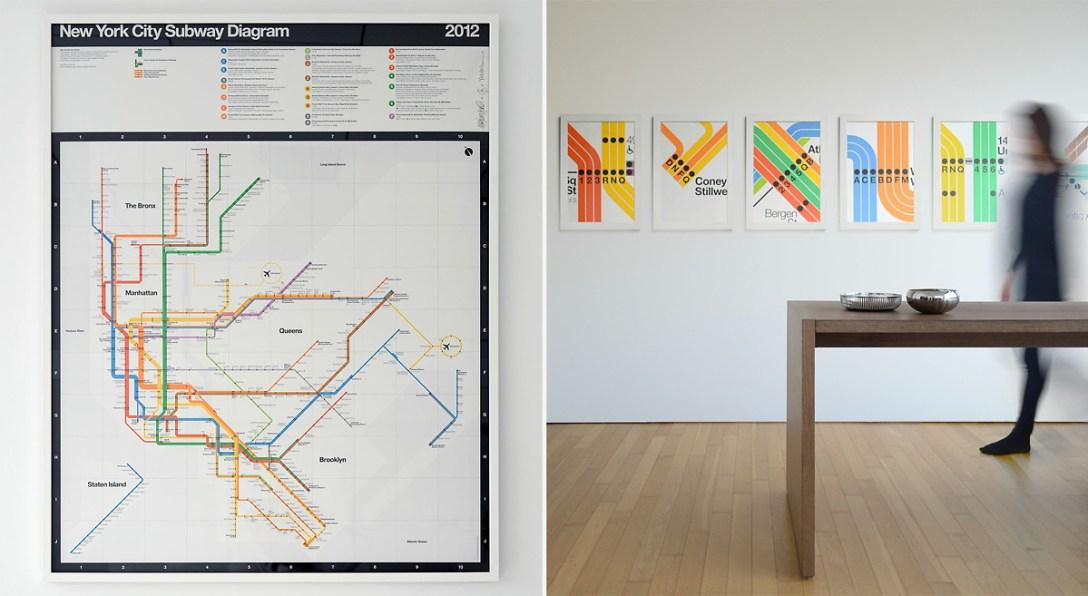 New York Subway Map Vignelli.Massimo Vignelli S Signed 2012 Nyc Subway Diagram Cool Hunting