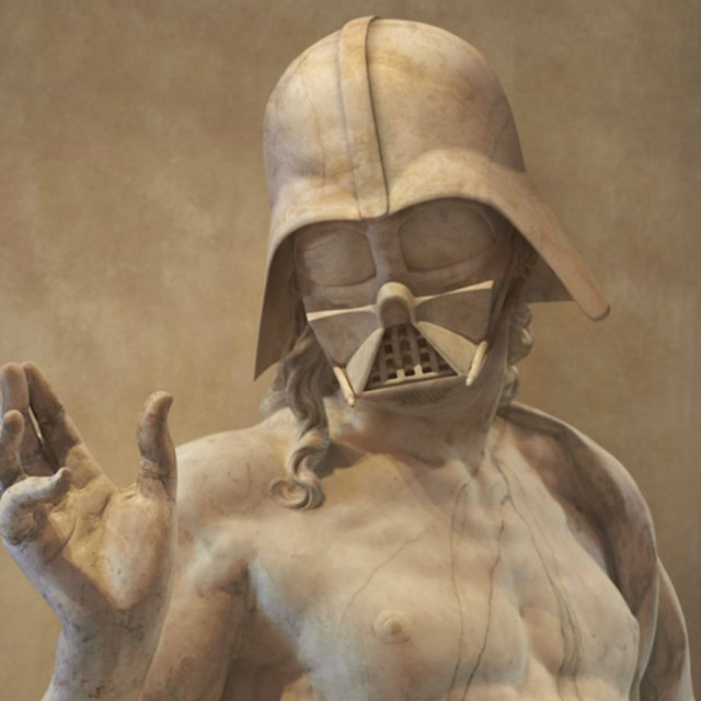 Artist Travis Durden Combines Star Wars Characters with Marble Sculptures