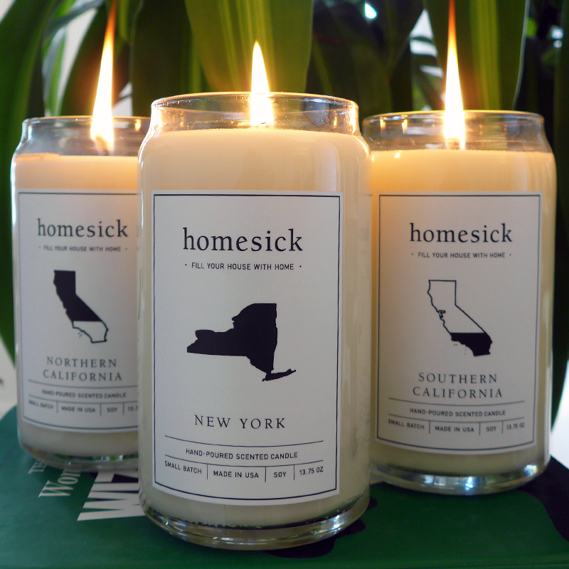 Homesick Scented Candle Southern California