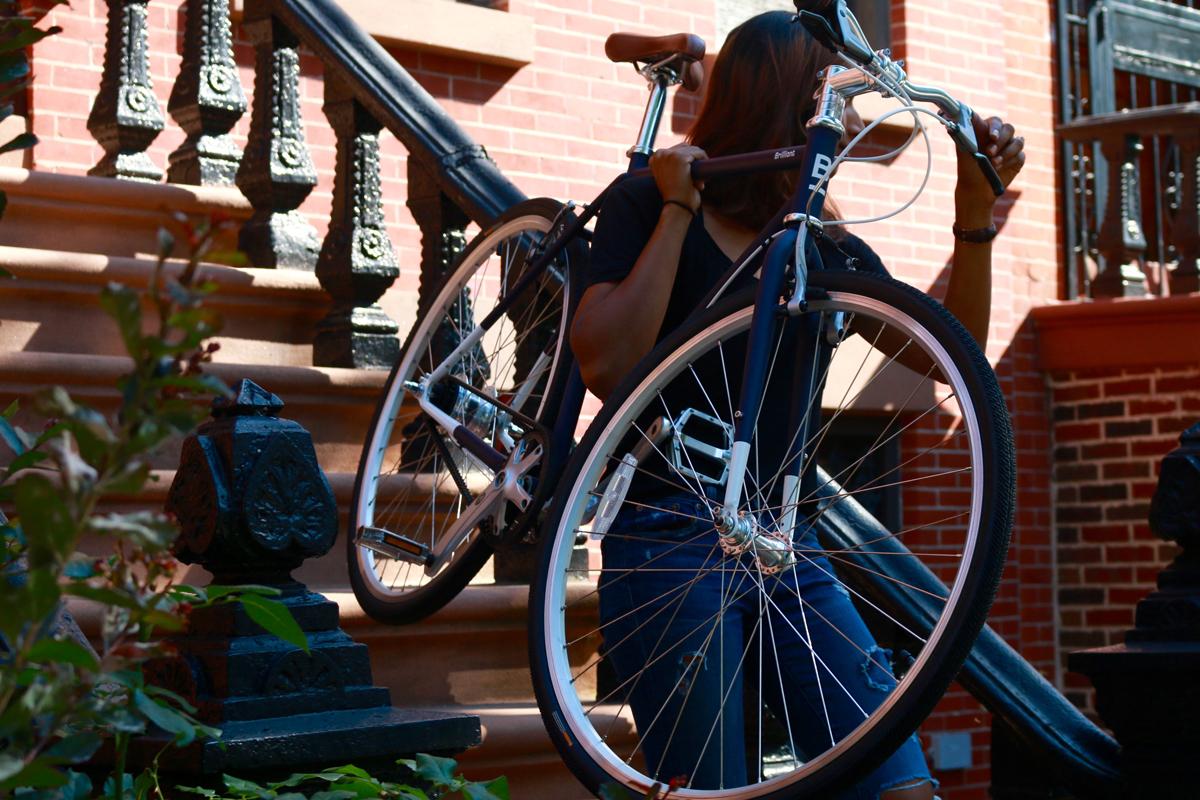 Shimano Nexus 7 Internally Geared Urban Commuter Bike Gates Carbon Belt Drive L-Train Brilliant Bicycle Co