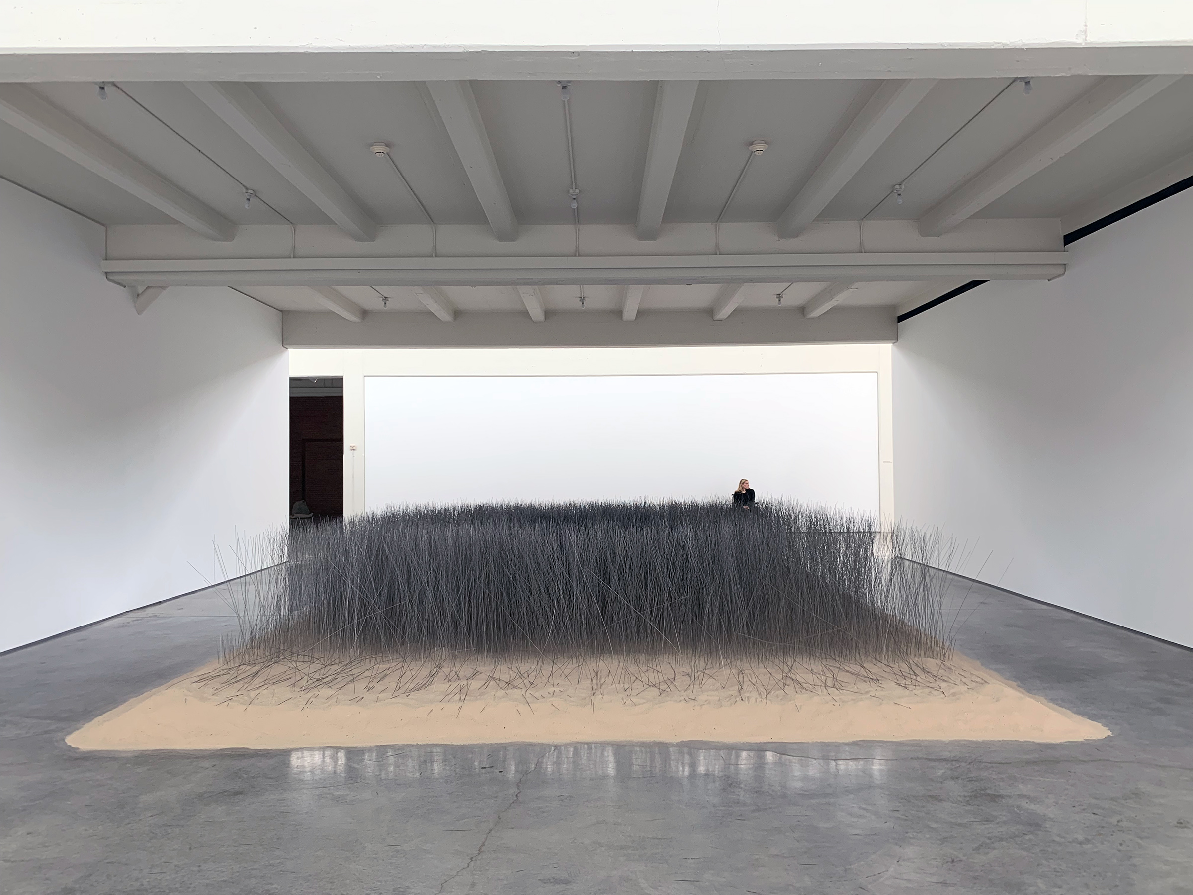 Lee Ufan Installs 20,000 Steel Rods in Sand at Dia:Beacon