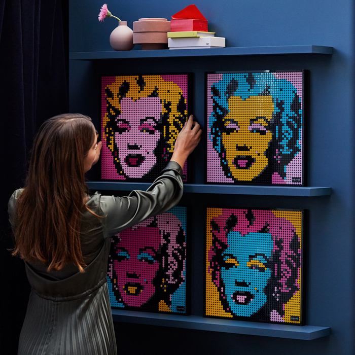 LEGO Art's Puzzle-Like Reproductions of Famous Works