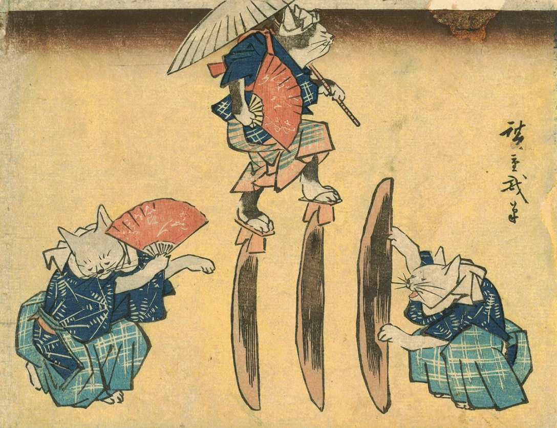45_Hiroshige_Cat-Crossing-to-Eat-japan-gallery-society-life-of-cats.jpg