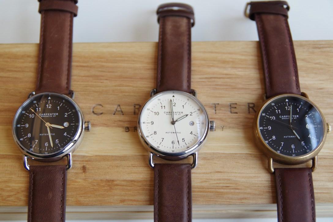 Brooklyn-Designed Carpenter Watches