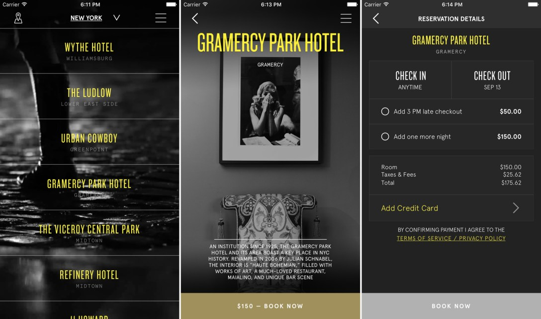 standard international s one night app incorporates other luxury