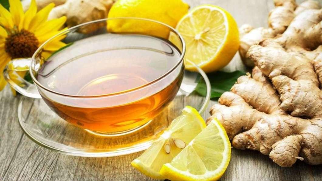 Chá seca barriga de gengibre e limão