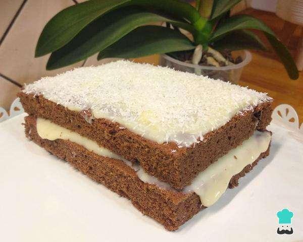 Receita de Bolo colchão de noiva de chocolate Rápido e Delicioso