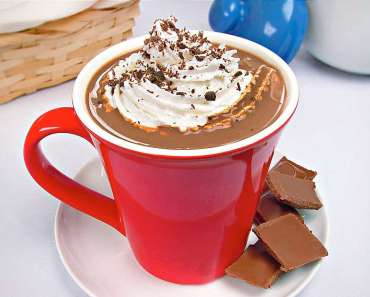 Receita de Chocolate quente com chantilly