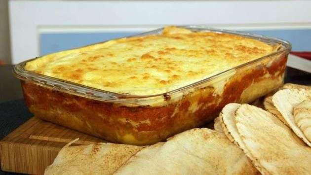 Receita de Lasanha de pão sírio