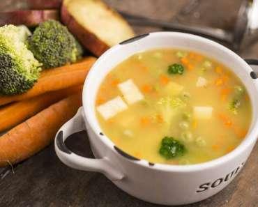Sopa de legumes com Mandioquinha