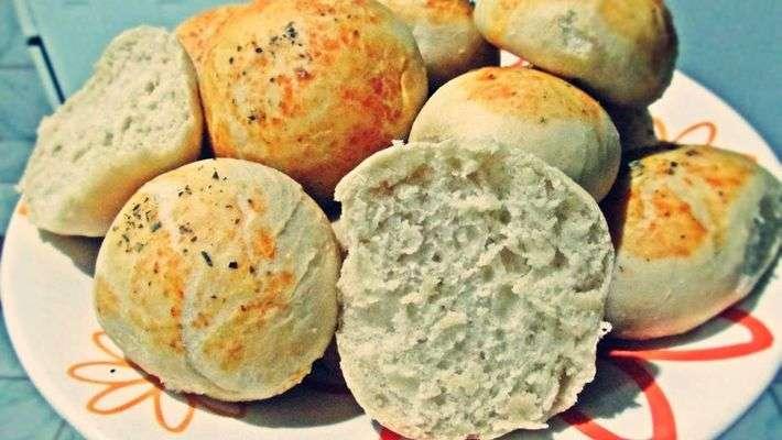 Receita de Pão de cebola vegano Delicioso