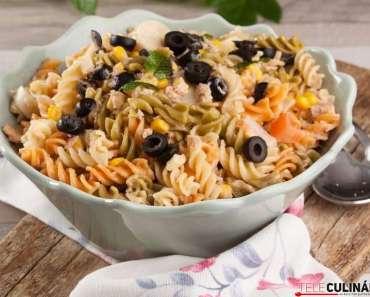 Receita de Salada fria de massa deliciosa