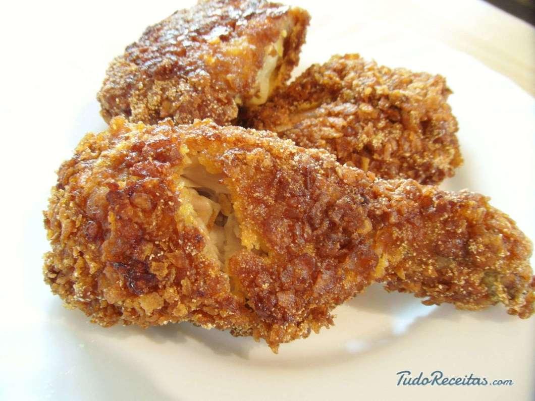 Receita de Frango frito e crocante do KFC