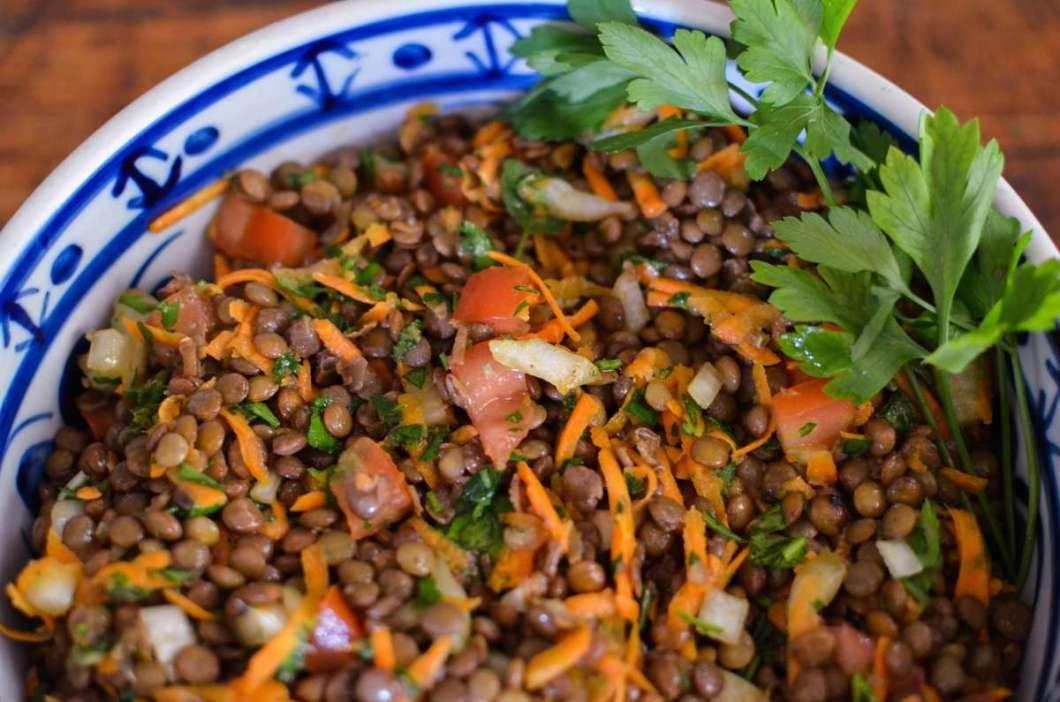 Receita de Salada de Lentilha para o Ano Novo