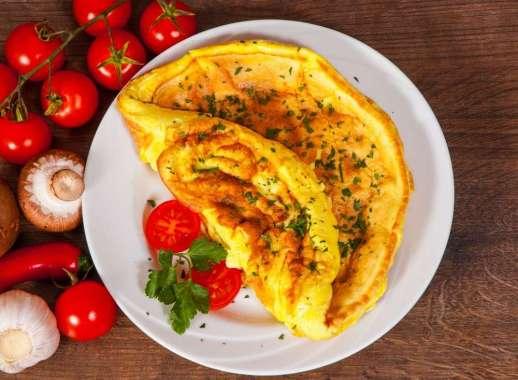 Receita de omelete low carb com couve