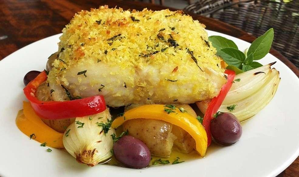Receita de Almoço de Lombo de bacalhau à lagareiro