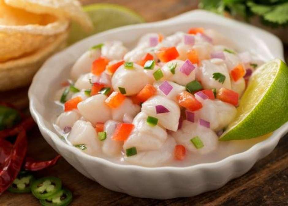 Receita de Ceviche de peixe branco
