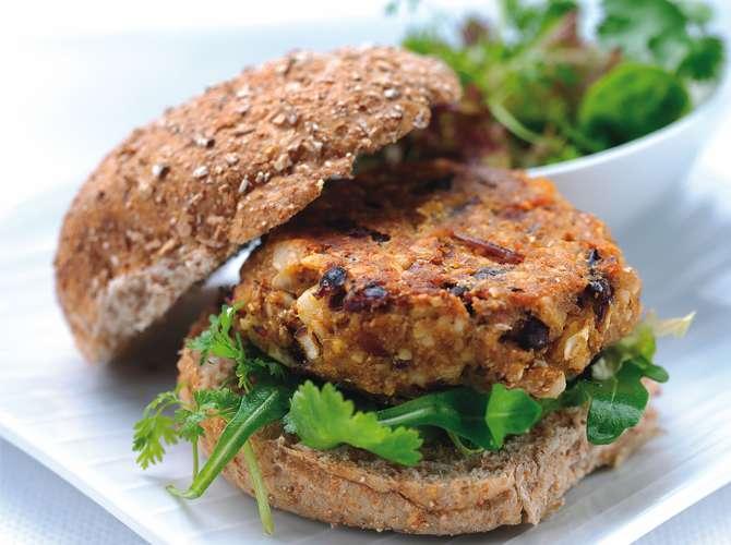 Receita de Hambúrguer Vegetariano Fácil