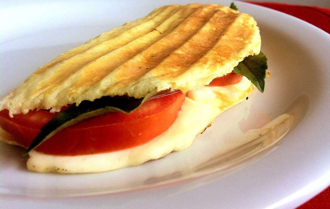 Receita de Panini Low Carb Sequinho