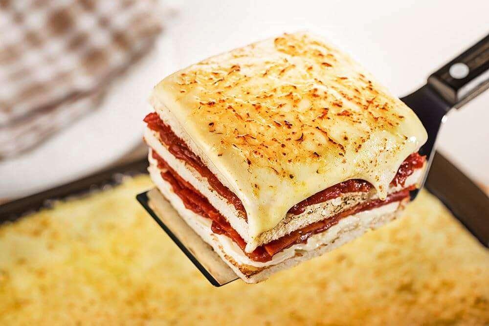 Receita de Sanduíche de forno com Presunto Firmeza