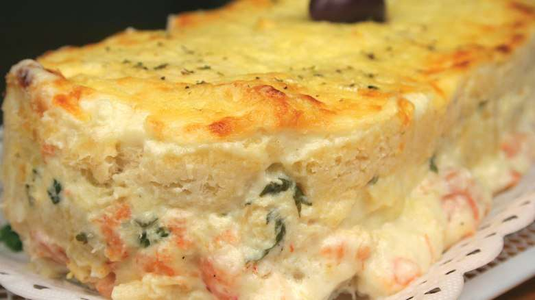 Receita de Sanduíche de forno sabor bacalhau com creme de camarão