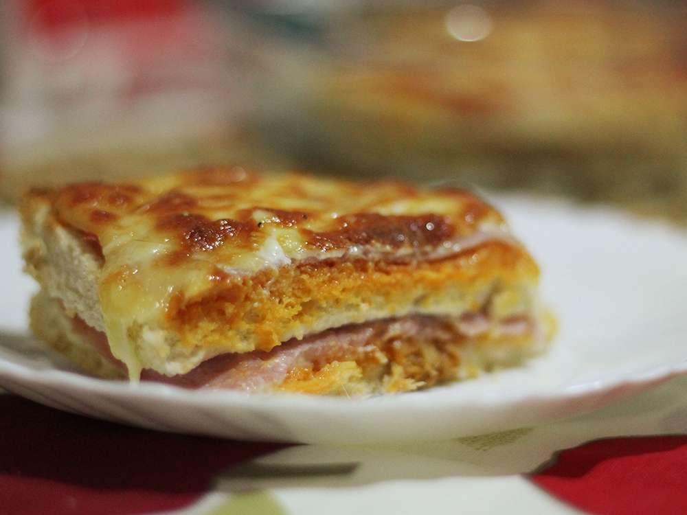 Receita de Torta de Pão de Forma para Lanche