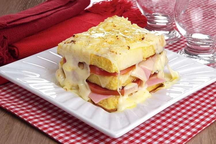 Receita de sanduíche de forno gratinado e Cremoso