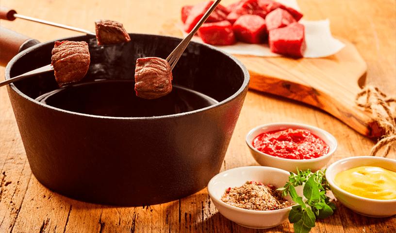 Receita de Fondue de Carne Fácil