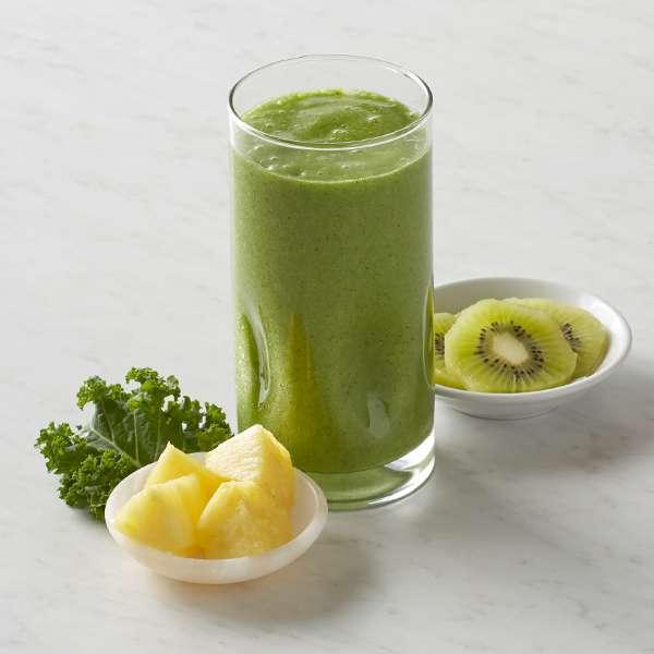 Receita de Suco de abacaxi e kiwi