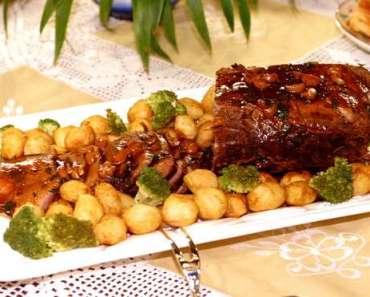 Receita de Carne assada ao molho ferrugem