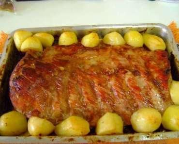 Receita de Costelinha de porco assada especial