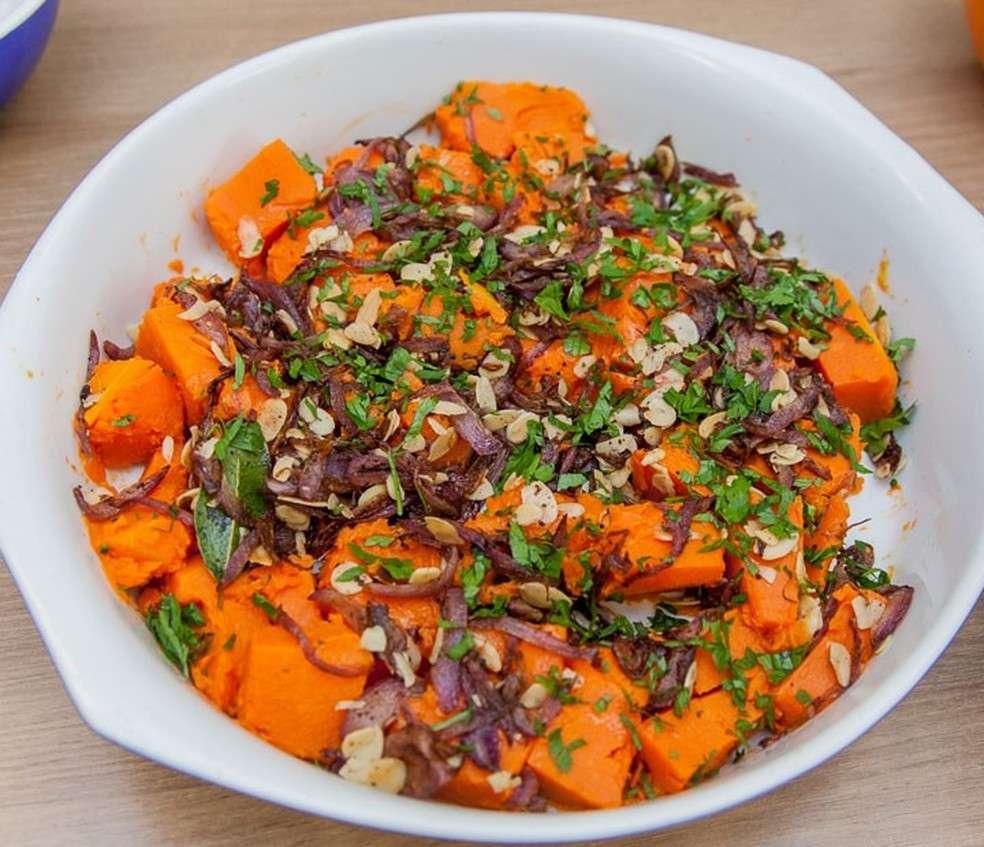 Receita de Salada de Abóbora