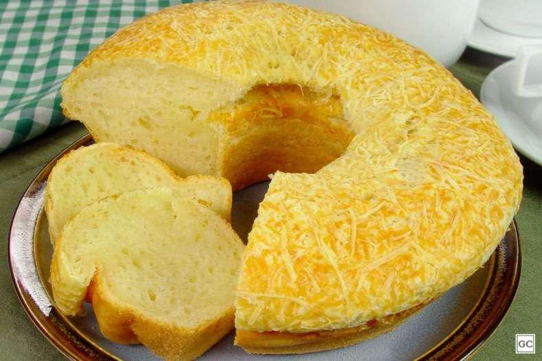 Receita de Bolo Pão de queijo gigante