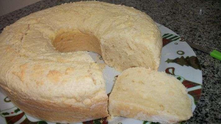 Receita de Bolo pão de queijo Branco