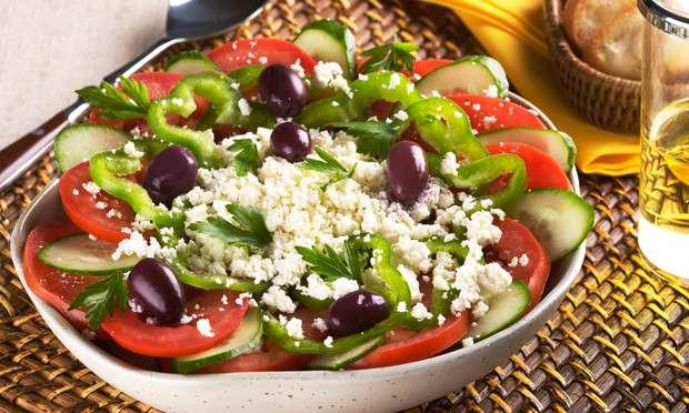 Receita de Salada grega Low Carb