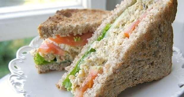 Receita de Sanduíche natural com sardinha