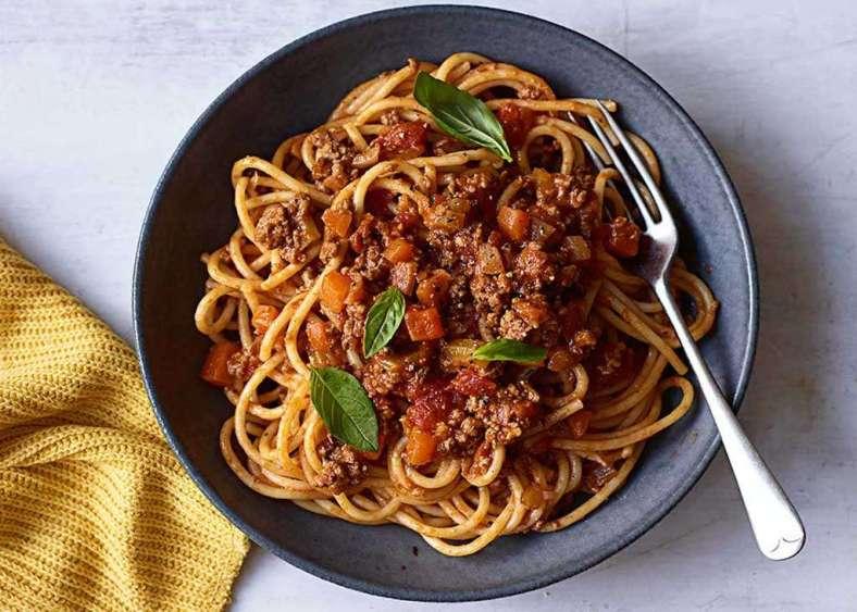 Receita de Esparguete com carne picada à bolonhesa