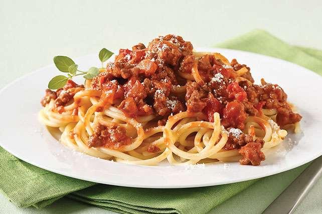 Receita de esparguete à bolonhesa