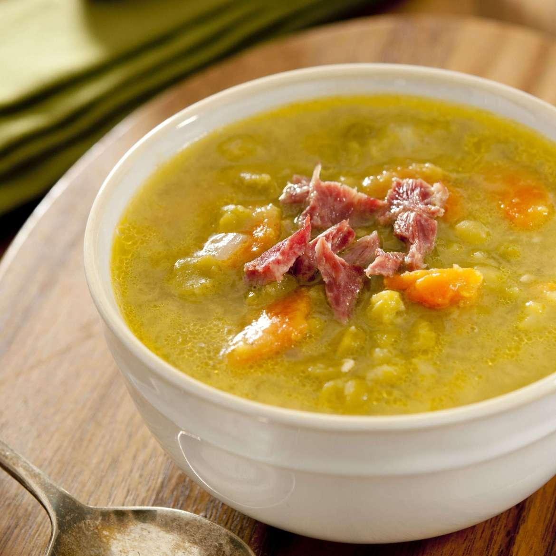 Receita de Sopa de Ervilha Rápida com Linguiça