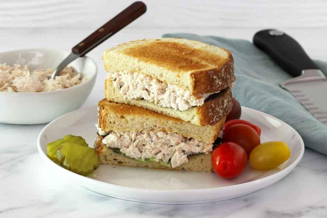 Receita de Sanduíche natural de frango com Pão Tostado