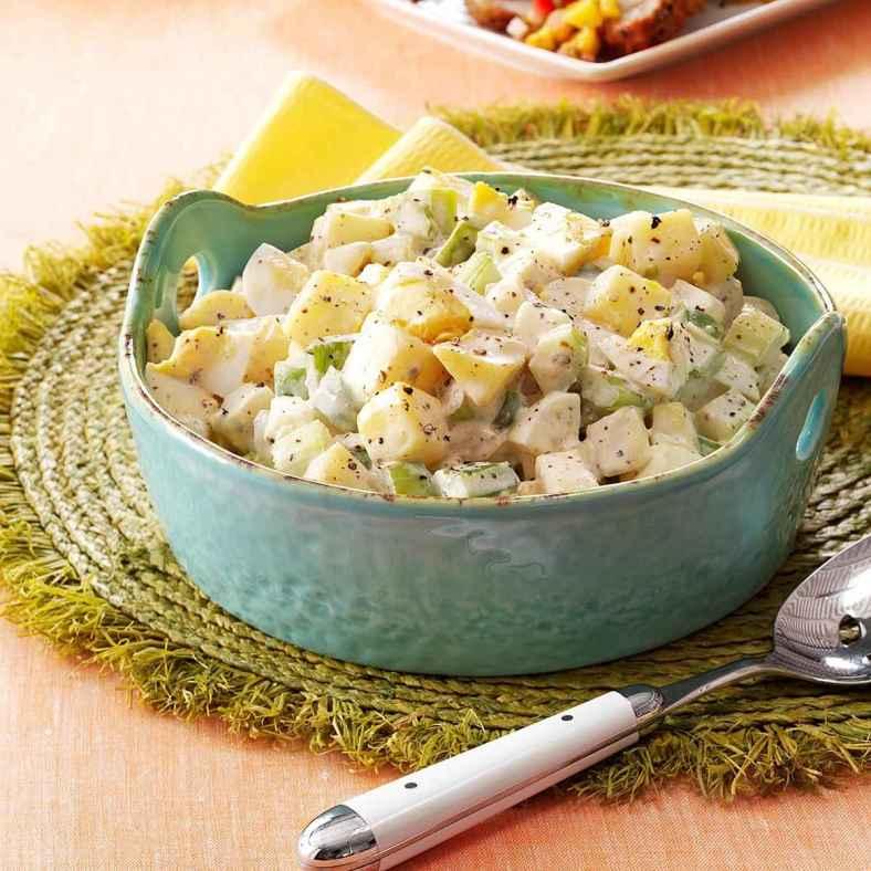 Receita de Salada de Batata com Maionese Colorida
