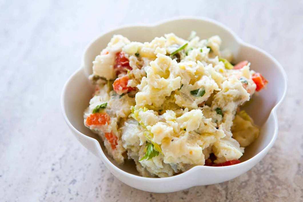 Receita de Salada de Batata com Vegetais Rápido