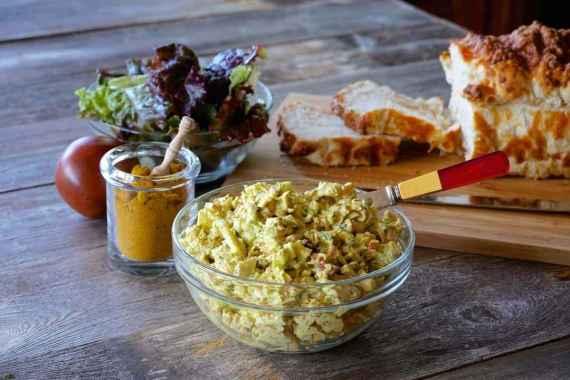 Receita de Salada de Frango com Cottage