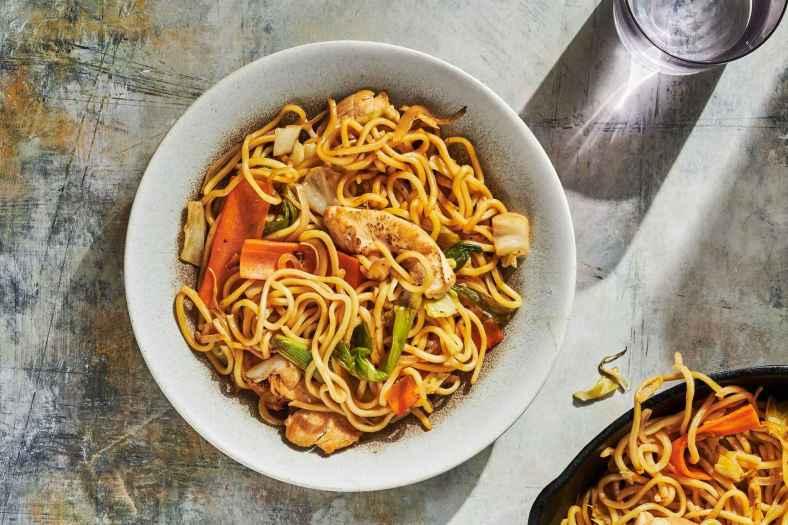 Janta rápida e Fácil de Yakisoba de Frango