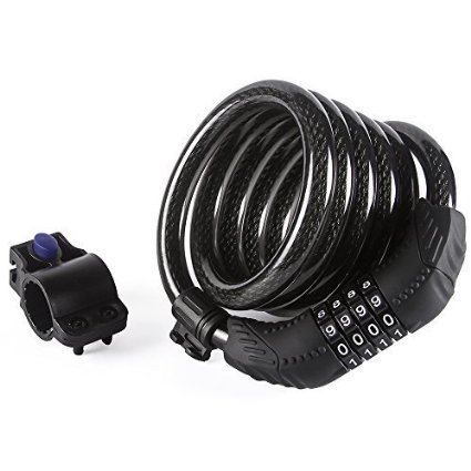 Etronic Security Lock M8 Self Coiling Resettable Combination Cable Lock