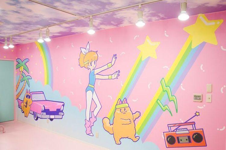 Mural en la tienda Galaxxxy