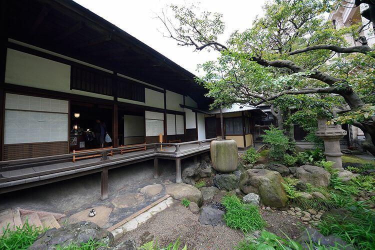 La mansión de Iwasaki al estilo japonés Shoinzukuri.